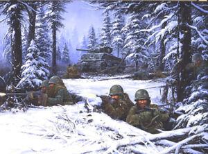 """Bastogne"" Battle of the Bulge  - By John Paul Strain  - Studio Canvas Giclée"