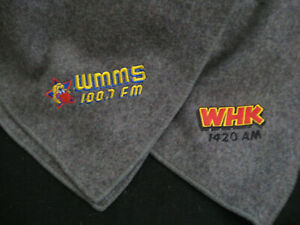 WMMS/WHK  RADIO CLEVELAND  gray wool blanket from 1985!