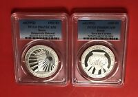 1992-BENIN -2 COINS OF 1000 FRANCS ,GRADED BY PCGS PR67&68 DCAM..LOW MINTAGE.