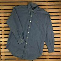 Mens Shirt Long Sleeve Polo Ralph Lauren Size M Medium