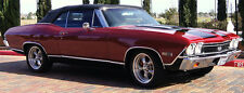1968 1969 1970 1971 Chevrolet Chevelle Convertible Top w Plastic Window - BLACK