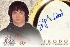Lord of the Rings Fellowship of the Ring Elijah Wood as Frodo Auto Card LotR