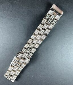 Breitling Men's Super Avenger Steel Bracelet 12 Carats Genuine Diamonds Steel