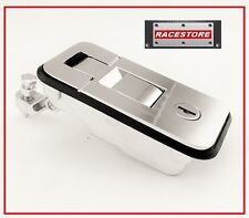Horse Float Push Button Lock Latch - 102 X 50mm - Chrome Finish