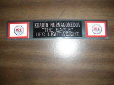 KHABIB NURMAGOMEDOV (UFC) NAMEPLATE FOR SIGNED TRUNKS DISPLAY/PHOTO/PLAQUE