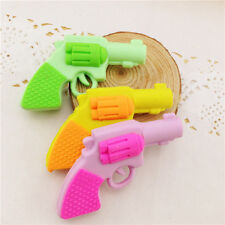 1pc Kids Novelty Cool Pistol Gun Erasers Rubbers Gift Toy Party Bag Gift