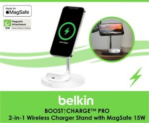 Belkin MagSafe 2-in-1 Wireless Charger Stand 15W modern design iPhone 12 series