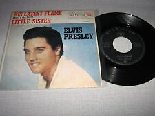 ELVIS PRESLEY 45 TOURS ESPAGNE HIS LATEST FLAME