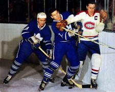 Jean Beliveau ,Tim Horton Montrreal Toronto Game  Auction 8x10 Photo
