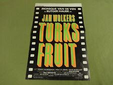 MOVIE POSTER / CINEMA AFFICHE - TURKS FRUIT (JAN WOLKERS, MONIQUE VAN DE VEN)