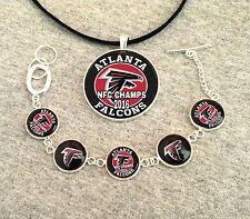 Atlanta Falcons NFC Champs Bracelet and Necklace set