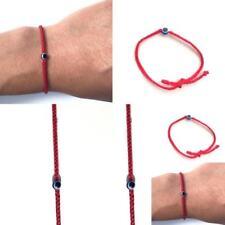 Pulsera Cuerda Trenzado Rojo con mal de ojo para Protección Suerte Hecho a Mano Kabbalah