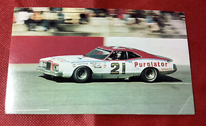 1975's David Pearson Purolator Mercury Cyclone NASCAR Grand National  postcard
