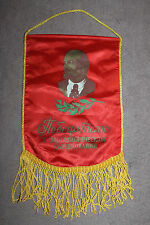 Original Soviet (Russian) Lenin Red Cloth Banner, 'Cold War Era' w/Hanging Rope