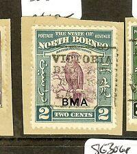 NORTH BORNEO (P2312B) 2C BIRD  BMA SG321  BOX LABUAN CANCEL SON VFU