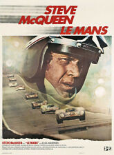 "Steve McQueen ""Le Mans"" Vintage Film Poster"