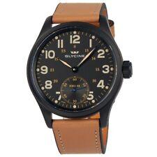 Glycine KMU 48 Black Dial Men's Hand Wound Watch 3906.99AT LB33