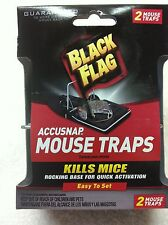 GENUINE Black Flag Wholesale Lot of 5 X 2 Accusnap Mouse Traps = $.99 each!