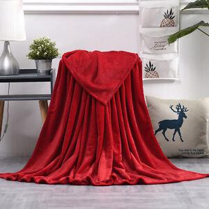Super Soft Flannel Fleece Blanket Throw Mink Large Sofa Bed Warm Blanket