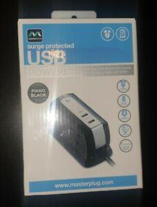 Masterplug Surge Protected USB Extension Lead (SRGDSU42PB) - BRAND NEW