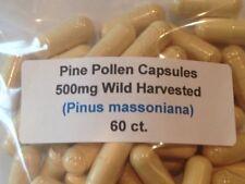 Pine Pollen Wild Harvested Broken Cell Wall Vegan Capsules 60 ct.