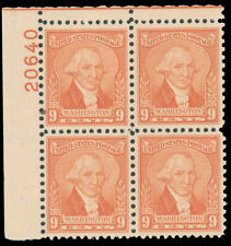 1932 9c PALE RED TOP LEFT PLATE #20640 BLOCK MNH #714 tiny little dirt speck $45