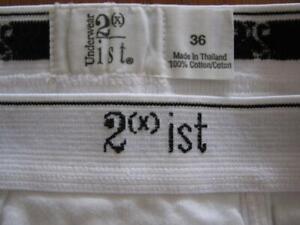 Vintage underwear 2xist double seat, fly front brief 36