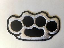 Iron On/ Sew On Embroidered Patch Badge Knuckle Duster Fighting