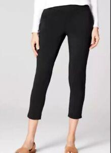 NWT Pure J Jill Slim Leg Cropped Pants Black Womens XL