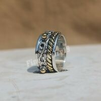 925 Sterling Silver Ring Spinner Ring Meditation Ring Statement Ring Jewelry L12