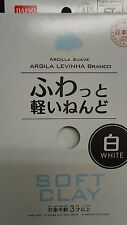 White DAISO Soft Clay Arcilla Suave Lightweight Made In JAPAN Free ship