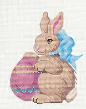 *NEW* Boy Easter Bunny & Egg handpainted Needlepoint Canvas by Labors of Love