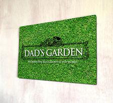 Dad's Garden Outdoor allotment sign A4 metal Sign