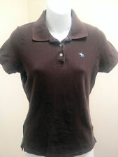 Abercrombie & Fitch Girls L Polo Shirt Brown Top School