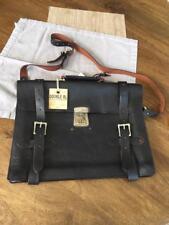 Ralph Lauren RRL & Co Mens distressed leather executive Messenger Briefcase Bag