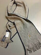 NEW! Polo Ralph Lauren Scarf Wool Gray Pony Merino