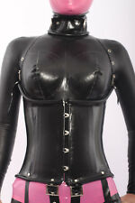 900ca244ea 100% Latex Rubber Gummi Corset 1.2mm Underbust Catsuit Suit Wear Lace up