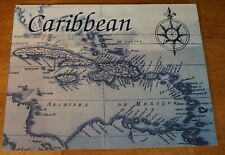 CARRIBEAN ISLANDS MAP Sailboat Sailing Compass Rose Beach Home Decor Sign - NEW