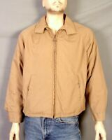 vtg 60s 70s Campus All Weather Pile Lined Insulated Jacket James Dean Beige 44