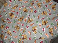 WINNIE THE POOH w/ CRICKETS & BUGS COTTON FABRIC MATERIAL  OVER 4 YARDS