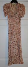 1940s Style Tara Starlet Floral Sweetheart Dress - Size 12 Blush Peach - Summer