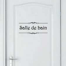 Porte Salle de bain et Toilettes Vinyl Decal Sticker French Bathroom Door Decor