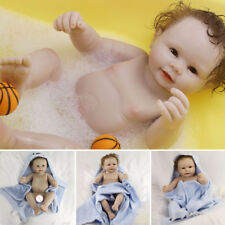"20"" Real Touch Soft Full Body Silicone Reborn Baby Boy Doll Newborn Infant Dolls"