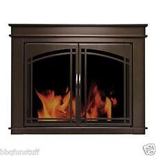 Pleasant Hearth Glass Fireplace Door Fenwick ORB Medium FN-5701 Mesh Screen