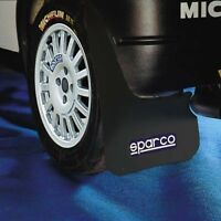 Black Sparco Universal Rally Exterior Wheel & Arch Protection Mud flaps