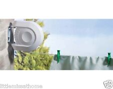 OUTDOOR RECTRACTABLE WASHING LINE * 15M WALL MOUNTED CLOTHES AIRER DRYER * REEL