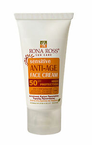 Rona Ross  Sensitive Anti-Age Face Cream SPF 50. 50ml EXPRESS P&P