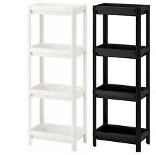 Ikea Vesken 4Tier Shelf Unit 36x23x100cm Bathroom Kitchen Office Laundry Room UK