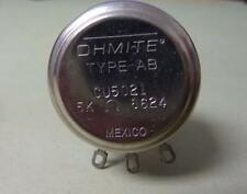 OHMITE Type AB CU5021 Potentiometer