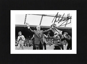 8X6 Mount BILL SHANKLY Signed PHOTO Ready To Frame LIVERPOOL Soccer